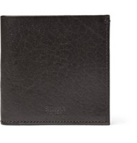 Shinola Grained Leather Billfold Wallet Brown