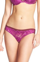 Women's Natori 'Exotic Flower' Low Rise Tanga Ayame Combo