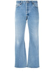 Re Done Bootcut Jeans Women Cotton 27 Blue