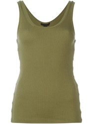 Alexander Wang Scoop Neck Tank Top Green