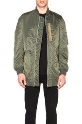Nlst Heavy Nylon Flight Jacket In Green