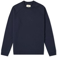 Folk Rivet Crew Sweat Blue