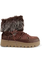 Australia Luxe Collective Casper Shearling And Leather Ankle Boots Brown