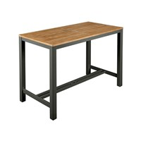 Barlow Tyrie Aura Rectangular Counter Height Table Graphite 01 Small Black