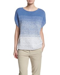 Vince Textured Ombre Cocoon Sweater Monaco Off White
