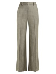 Nili Lotan Sullivan Straight Leg Wool Trousers Grey