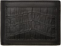 Alexander Wang Black Croc Embossed Wallet