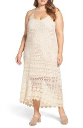 City Chic Plus Size Women's Crochet Maxi Dress