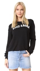 Spiritual Gangster Good Karma Crop Sweatshirt Vintage Black