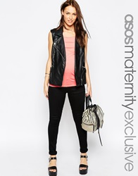 Asos Maternity Ridley Skinny Jean In Black With Over The Bump Band