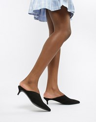 New Look Stretch Pointed Mule Black
