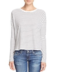 Rag And Bone Stripe Long Sleeve Tee White Black