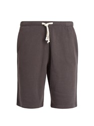 American Vintage Wide Leg Cotton Shorts Dark Grey