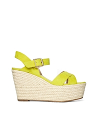 Asos Hansel Wedges Chartreuse