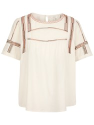 Fat Face Luna Embroidered Blouse Ivory
