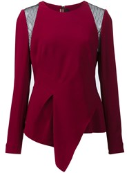 Roland Mouret 'Ebner' Lace Blouse Pink And Purple