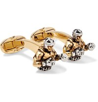 Paul Smith Gold And Silver Tone Cufflinks Gold