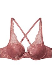 Chantelle Molitor Multi Way Stretch Lace Underwired Plunge Bra Antique Rose