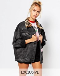 Lazy Oaf Denim Jacket With Patches Black