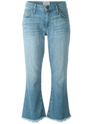 Current Elliott Loose Fit Cropped Flared Jeans Blue