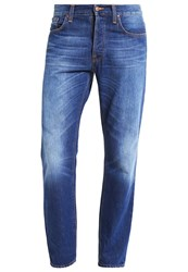 Nudie Jeans Leif Straight Leg Classic Crumble Blue Denim
