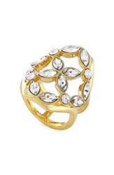 Women's Louise Et Cie Crystal Cluster Cocktail Ring