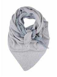 Johnstons Of Elgin Cashmere Ombre Stripe Scarf Grey
