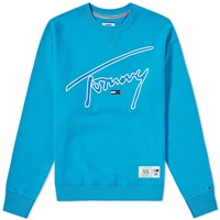 Tommy Jeans Signature Crew Sweat Blue