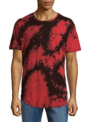 American Stitch Bleached Cotton Tee Red