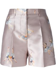 Rochas Ballerina Print Shorts Pink And Purple