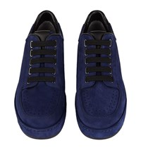 3.1 Phillip Lim Perforated Suede Sneakers Male Navy