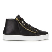 Hugo Women's Nycolette L Leather Hi Top Trainers Black