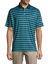 Callaway Striped Button Front Tee Moonlight