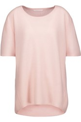 Duffy Ribbed Cashmere Top Pastel Pink