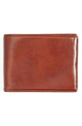 Men's Bosca Leather Wallet Brown Amber