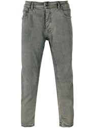 Rick Owens Drkshdw Tapered Cropped Jeans Men Cotton Spandex Elastane Polybutylene Terephthalate Pbt 31 Blue