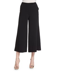 Elizabeth And James New Presli Wide Leg Cropped Trousers Black