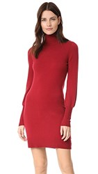 Bop Basics Cashmere Blouson Sleeve Turtleneck Dress Cranberry