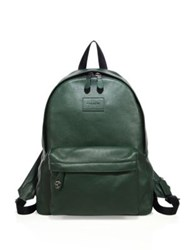 Coach Textured Leather Backpack Green