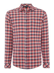 Army And Navy Barnaby Classic Long Sleeve Check Shirt Red
