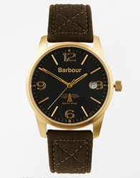Barbour Quilted Strap Watch Green