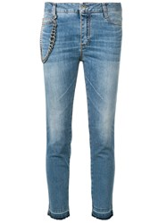 Ermanno Scervino Chain Detail Cropped Jeans Blue