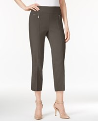 Style And Co Petite Pull On Cropped Pants Only At Macy's Brown Clay