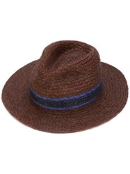 Paul Smith Braided Panama Hat Men Straw L Brown