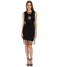 Love Moschino Tank Dress W Sheer Overlay