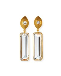Dina Mackney Topaz And Quartz Drop Earrings White