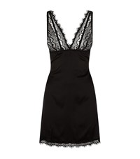 Mimi Holliday Bisou Bisou Plum Backless Silk And Lace Chemise Female Black
