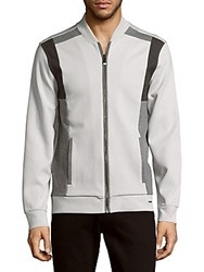 Calvin Klein Colorblock Long Sleeve Jacket White Combo