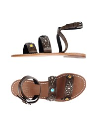 Bibi Lou Sandals Dark Brown