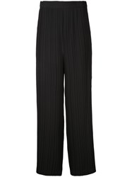 Helmut Lang Pleated Palazzo Trousers Black